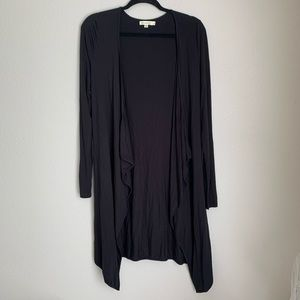 NEW Comme Toi black draped front cardigan S